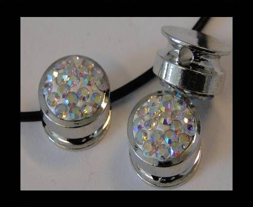 Shamballa-Flat-Round-10mm-Crystal (AB)