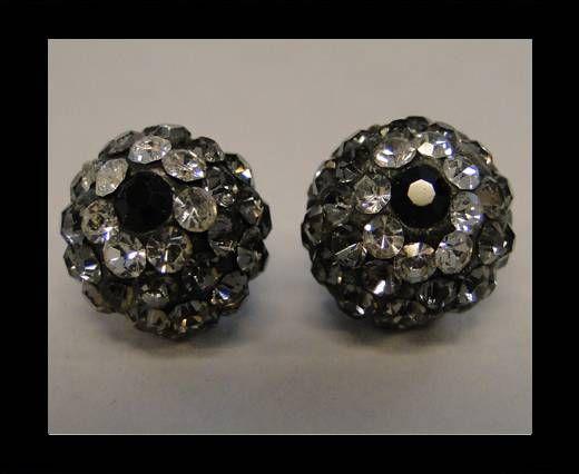 Fleur Shamballa - 10mm - Diamant noir