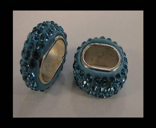 Shamballa ovale - Turquoise