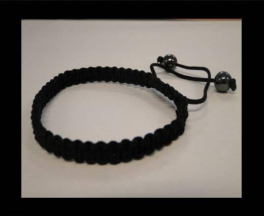 Bracelet simple Shamballa SB - Noir