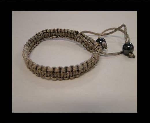 Bracelet simple Shamballa SB - Gris