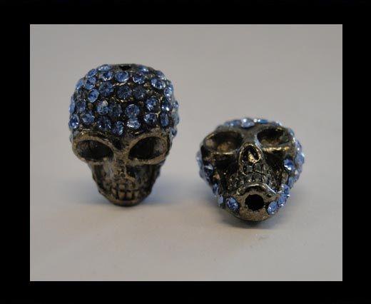 Tête de mort Shamballa - Turquoise