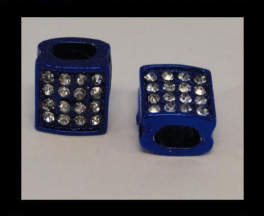 Perle Shamballa Slider - 4344 - Bleu foncé