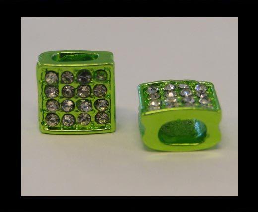 Perle Shamballa Slider - 4344 - Vert clair