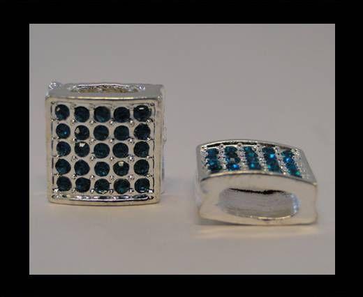 Perle Shamballa Slider - 4345 - Bleu