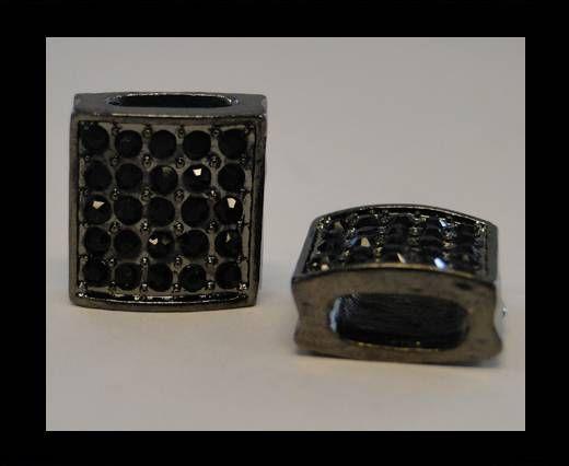Perle Shamballa Slider - 4345 - Noir métallique