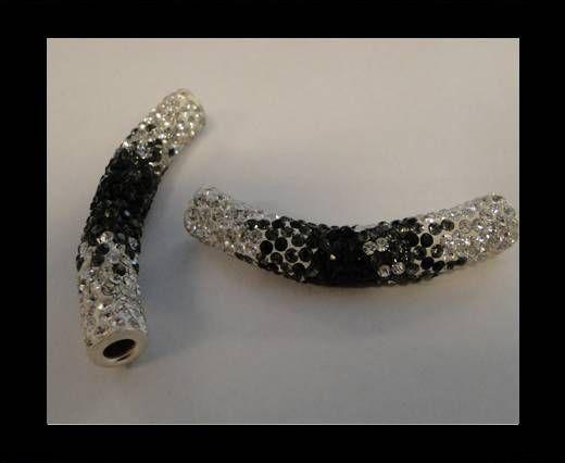Tube Shamballa - Noir et blanc