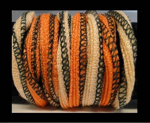 Coton de soie - 7 - Opale de feu et abricot
