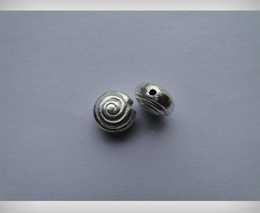 Silver Brush Beads SE-2186