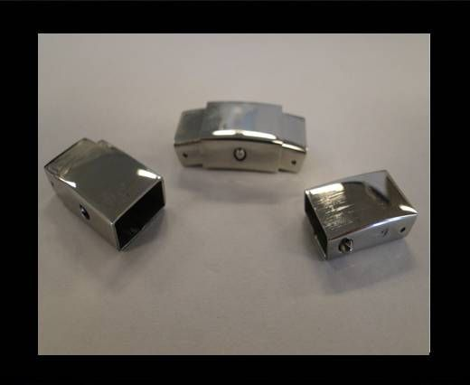 Stainless Steel Magnetic Clasp,Steel,MGST-53-9*4mm