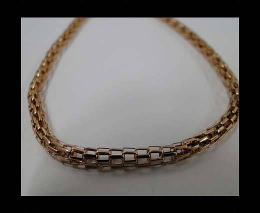 Stainless Steel Chain Item-26-3,2mm Rose Gold