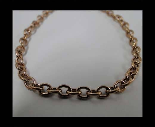 Stainless Steel Chain Item-27-1*3,8*5mm Rose Gold