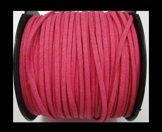 Suede cord - 3mm - Neon Pink