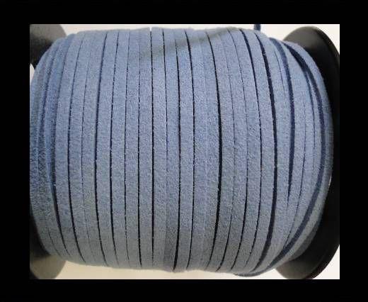 Corde en daim - Bleu