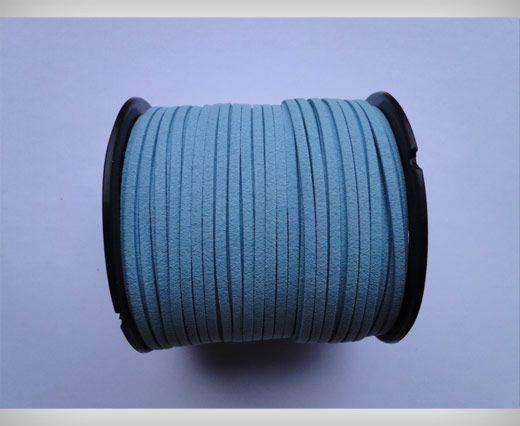 Corde en daim - Bleu clair