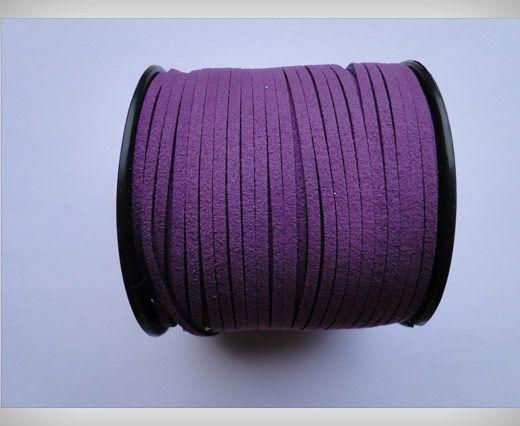 Corde en daim - Violet