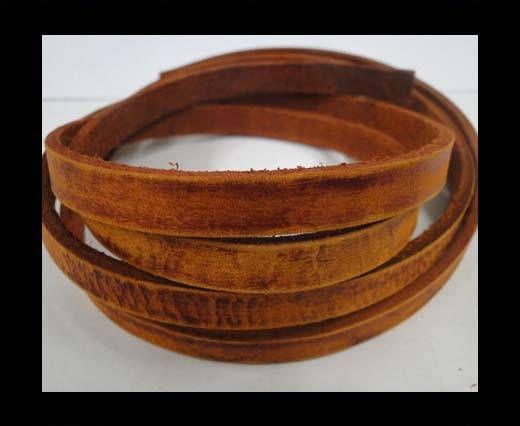 Vintage Style Flat Leather - 10mm-orange