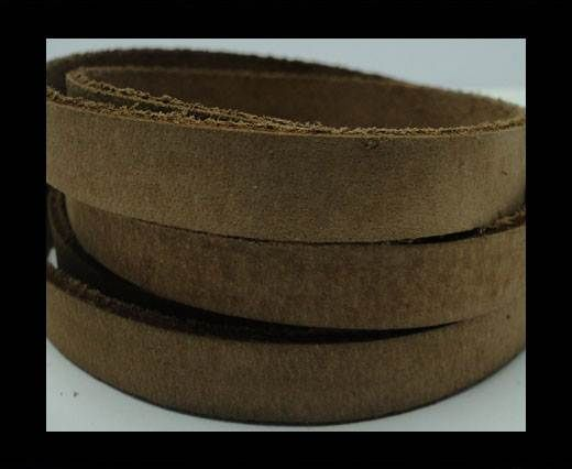 Vintage Style Flat Leather - 10mm-Coffee Brown