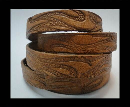 Vintage Style Flat Leather-10mm-Brown Pattern