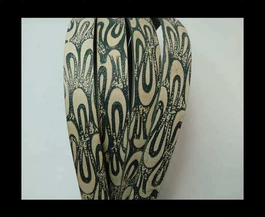 Vintage Style Flat Leather - 14mm-colour 38