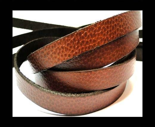 Vintage Style Flat Leather-10mm-spl 3 tan