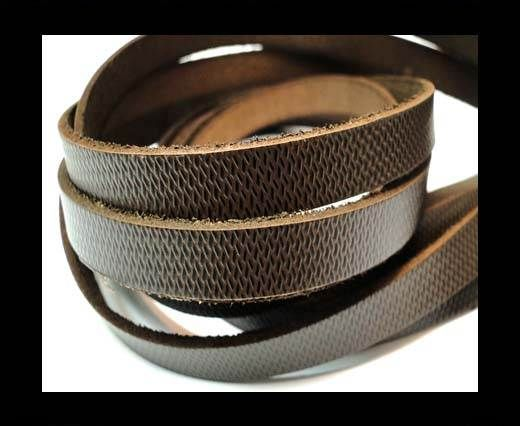 Vintage Style Flat Leather-10mm-spl 12 brown