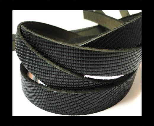 Vintage Style Flat Leather-10mm-spl 15 black
