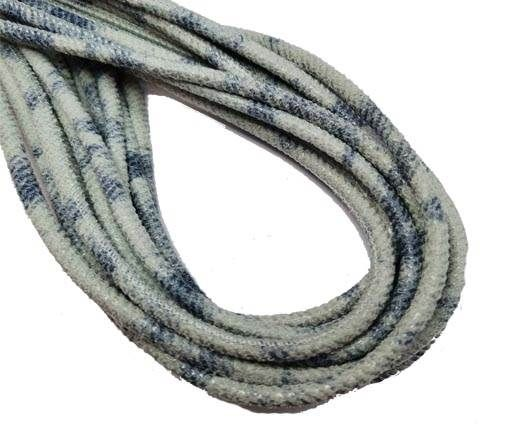 Round Stitched Nappa Leather Cord-4mm-washed jeans