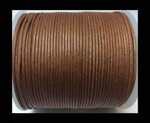 Wax Cotton Cords - 1mm - Light Brown