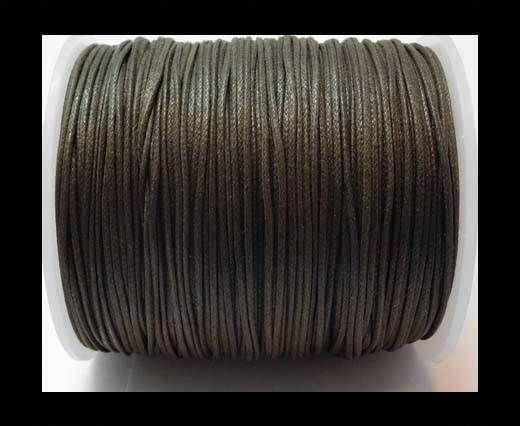 Wax Cotton Cords - 1mm - Dark Brown