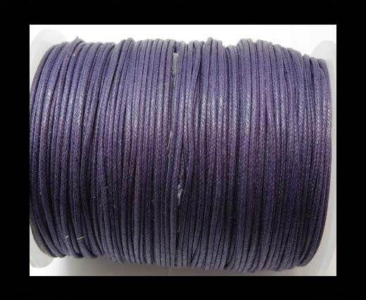 Wax Cotton Cords - 1mm - Dark Lavender