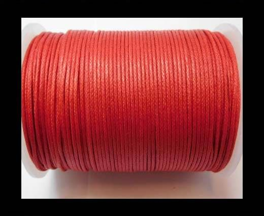 Wax Cotton Cords - 1mm - Red