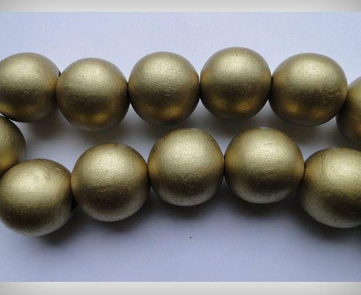 Wooden Beads-25mm-Khakhi