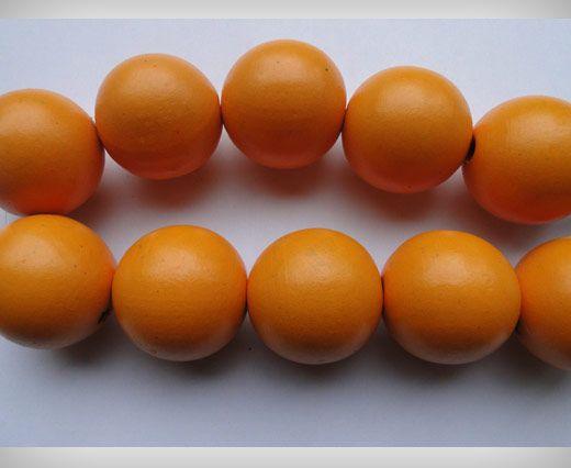 Wooden Beads-25mm-Orange