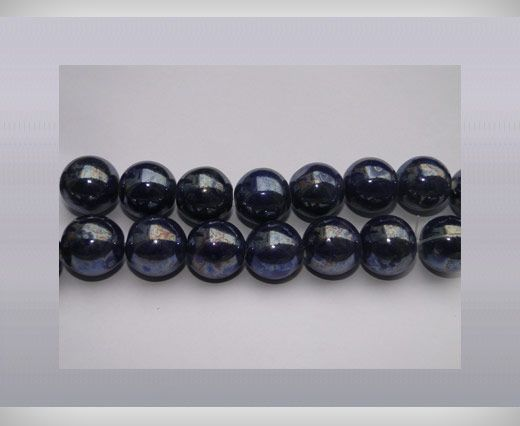 Ceramic Beads-25mm-Dark Blue