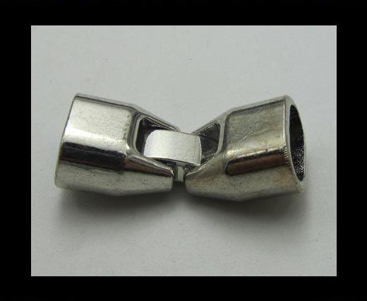 Fermoirs pour cuir/corde - ZAML 26 - 10*6mm