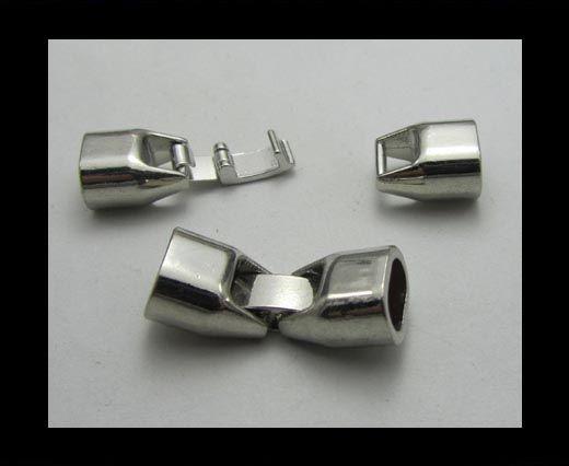 Fermoirs pour cuir/corde - ZAML 26 - 8*5mm