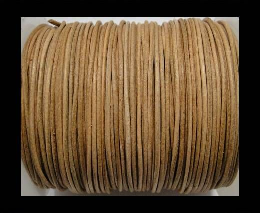 Round Leather Cord  - Natural - 1mm