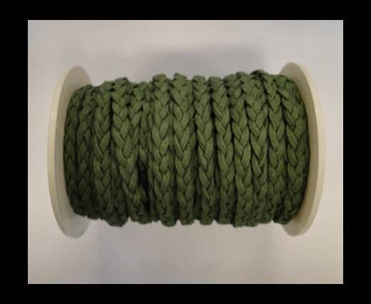 Suédine tressée - Vert - 5mm