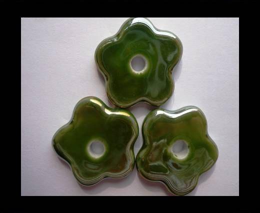 CB-Ceramic Flower-Small Flower-Green AB