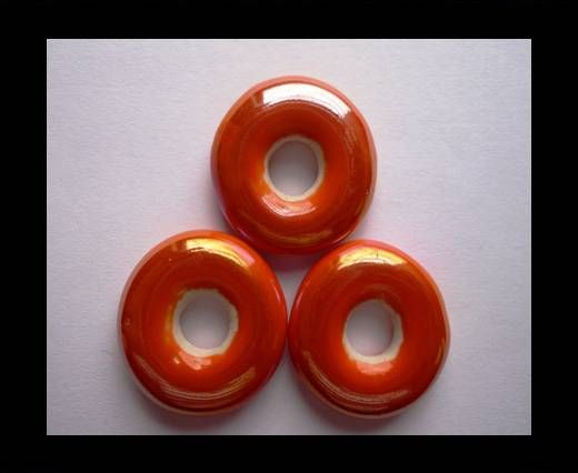 CB-Ceramic Flower-Small Donuts-Orange AB