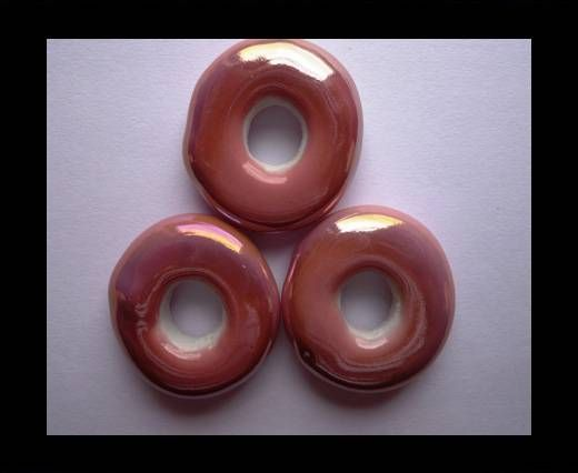 CB-Ceramic Flower-Small Donuts-Pink AB