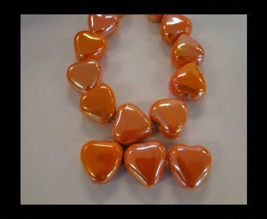 CB-Ceramic Heart - Orange AB