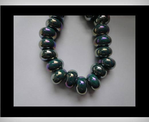Ceramic Beads -Dark Blue AB
