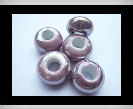 Ceramic Beads -Purple-AB