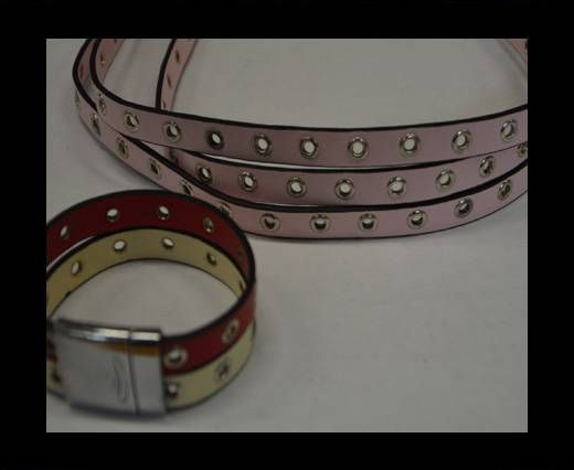 Eco Leather with Rings 10mm-Pink