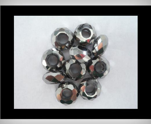 Faceted-Big-Hole-Metallic Grey
