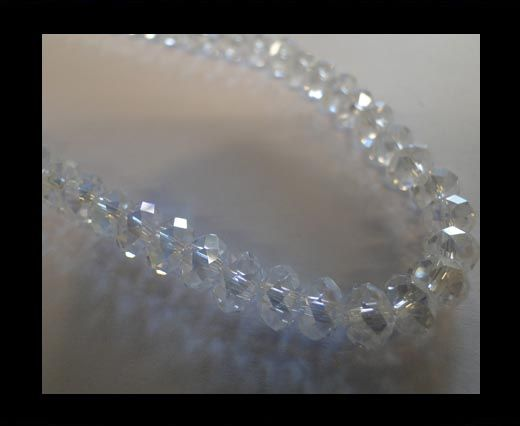 Faceted Cubes-6mm-Crystal
