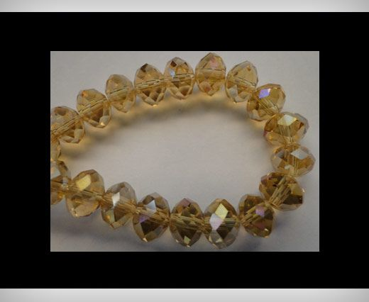 Faceted Glass Beads-6mm-Topaz-AB