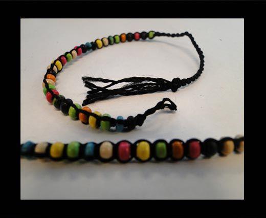 Bracelet en corde fantaisie - FJ03 - Corde noire